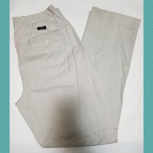 Hugo Boss Off White Pleated Front Straight Pants